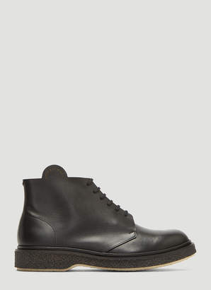 Adieu X Art and Science Lace-Up Boots in Black