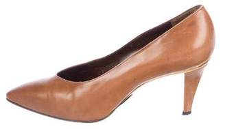 Genny Leather Pointed-Toe Pumps