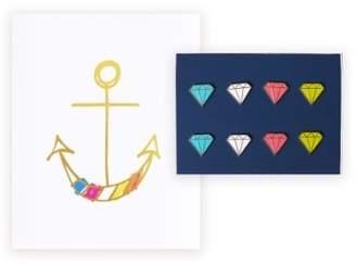 LOFT lake + Anchor Print & Jewel Pushpins Set