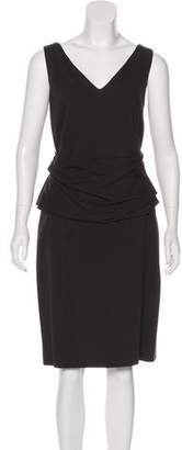 Akris Punto V-Neck Sheath Dress