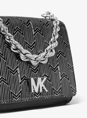 MICHAEL Michael Kors Mott Large Metallic Deco Leather Crossbody