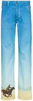 Calvin Klein Jeans Est. 1978 Horse print straight leg cotton denim jeans