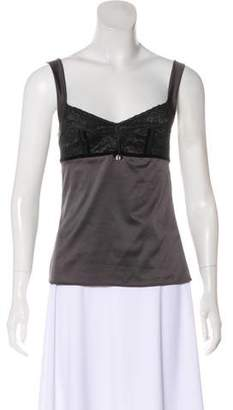 Christian Dior Lace-Trimmed Sleeveless Top