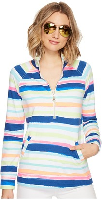 Lilly Pulitzer - UPF 50+ Skipper Printed Popover Women's Long Sleeve Pullover $98 thestylecure.com