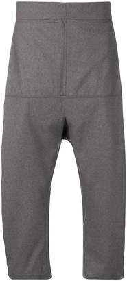 Odeur cropped dropped crotch trousers