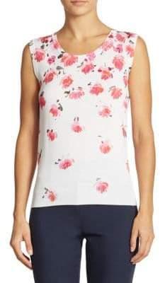 Lela Rose Floral Knit Top