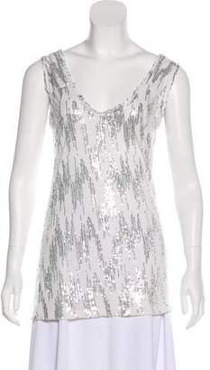 Diane von Furstenberg Silk-blend Sleeveless Top