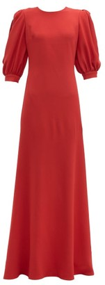 Elie Saab Open Back Crepe Gown - Womens - Red