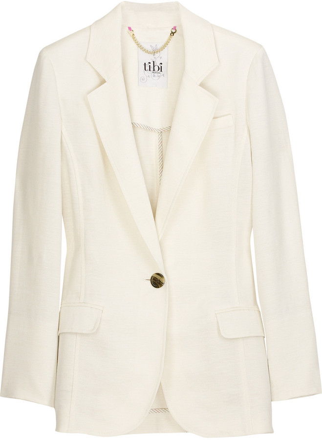 Tibi Linen and silk-blend blazer