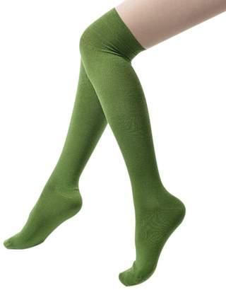 Alizeal Women's Over The Knee High Socks Leg Warmers for Girls Winter Warm Cotton Crochet Socks