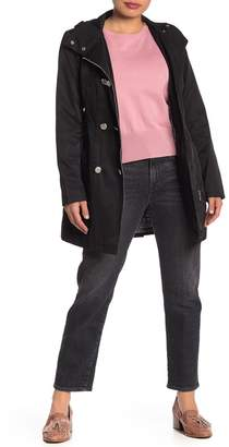 GUESS Asymmetric Zip Hooded Trench Coat