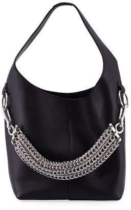 Alexander Wang Genesis Box Chain Extra Large Hobo Bag, Black