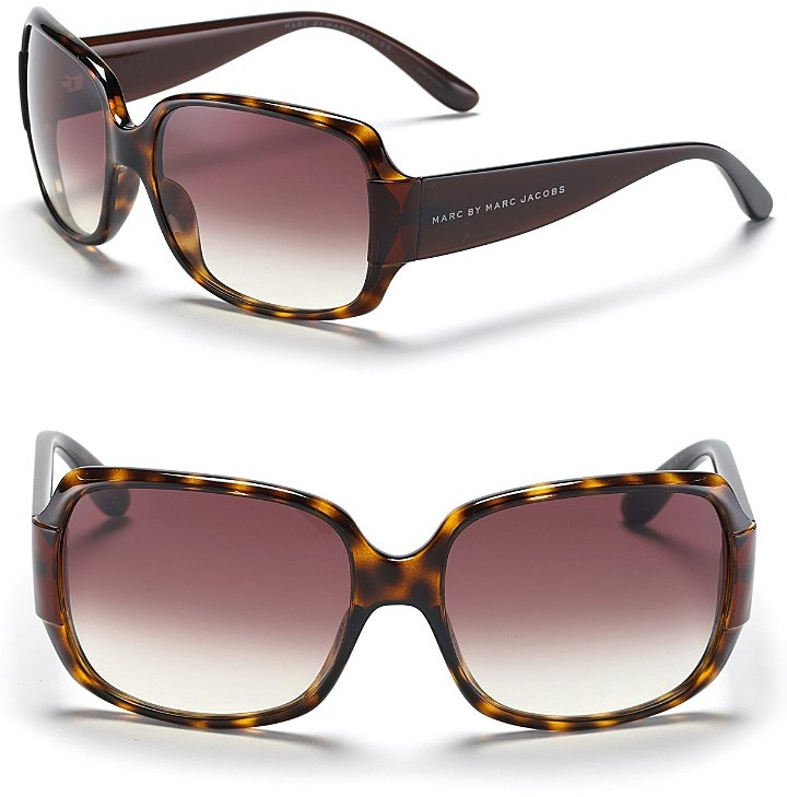 MARC BY MARC JACOBS Tortoise Square Sunglasses