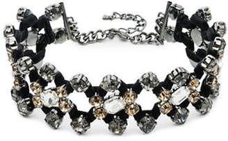 ABS by Allen Schwartz Smoke and Mirrors Wrapped Multi-Stone Choker Necklace