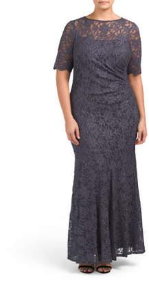 Plus Lace Gown