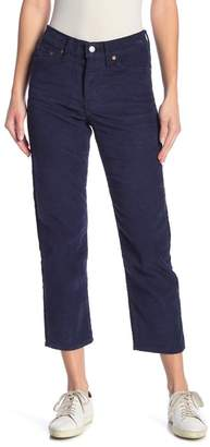 Levi's Wedgie Corduroy Cropped Straight Leg Jeans