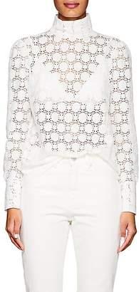 Officine Generale Women's Jade Cotton-Blend Lace Blouse - White