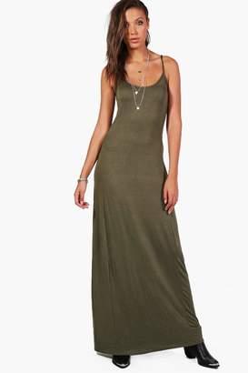 boohoo Tall Cross Back Strappy Maxi Dress