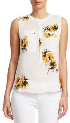 A.L.C. Adela Sleeveless Floral Blouse