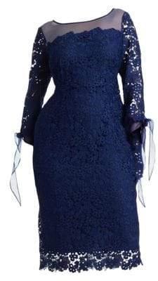 Marina Rinaldi Marina Rinaldi, Plus Size Lace Cocktail Dress