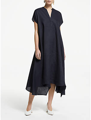 John Lewis & Partners Linen Handkerchief Hem Dress