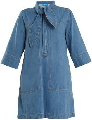 MiH Jeans Ketty tie-neck denim dress