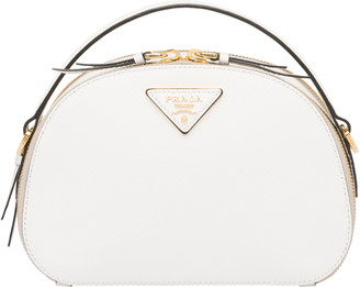 Prada Double Compartment Saffiano Leather Crossbody