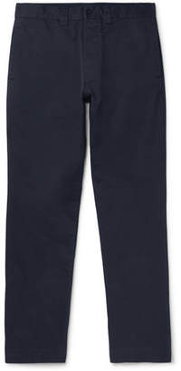 Margaret Howell Mhl Navy Cotton-Twill Chinos