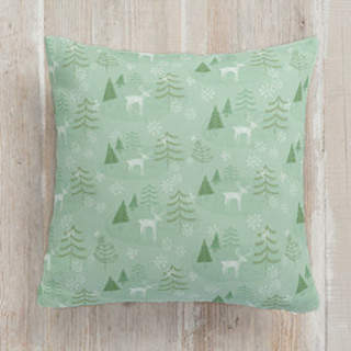 Juniper Winter Forest Square Pillow