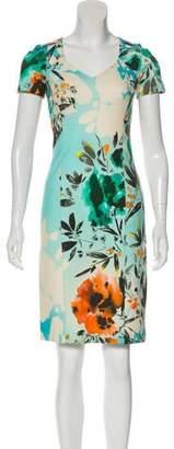 Etro Printed Bodycon Knee-Length Dress