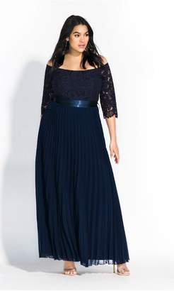 City Chic Citychic Intriguing Maxi Dress - navy