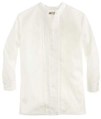 Thomas Mason for J.Crew collarless tuxedo shirt