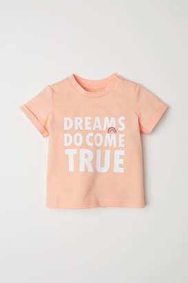 H&M T-shirt with Printed Design - Orange