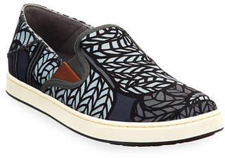 OluKai Men's Kahu Pow Wow Fabric Sneakers