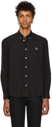 Kenzo Black Tiger Casual Button Down Shirt