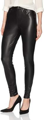 Hue Women's Leatherette Curvy Leggings Sockshosiery,