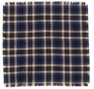 Valentino Plaid Pocket Square w/ Tags