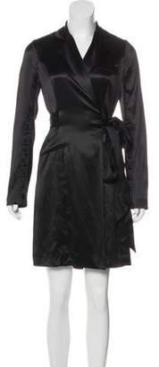 Diane von Furstenberg Knee-Length Silk Coat
