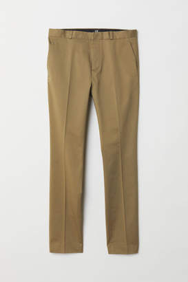 H&M Skinny Fit Cotton Chinos - Beige