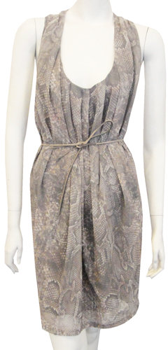 Acne Belted Tank Dress In Snake Print