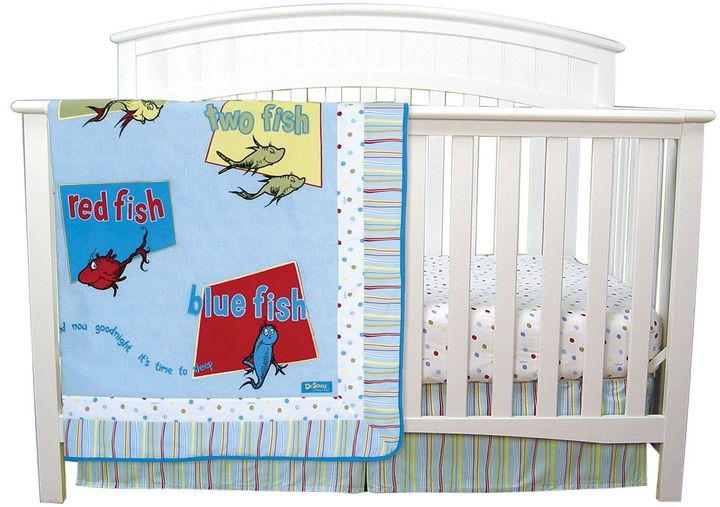 """Trend Lab Dr. Seuss """"One Fish, Two Fish"""" 3-pc. Crib Set by"""