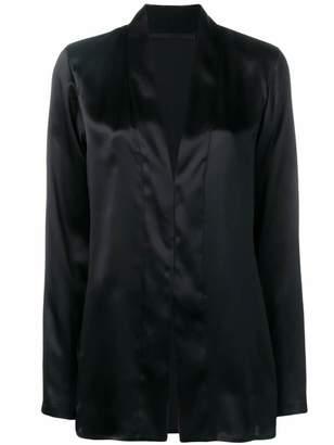 Haider Ackermann collarless split hem blouse