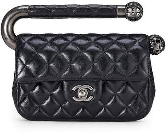 Chanel Black Quilted Lambskin Around The World Bag Mini