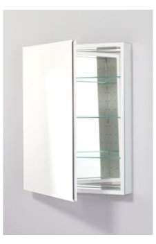"""Robern PLM2430BLE PL 23"""" x 30"""" Frameless Medicine Cabinet Left Hinged with Beveled Mirror and Electrical Outlet"""