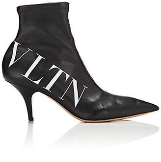 Valentino Women's Stretch-Leather Ankle Boots - Black