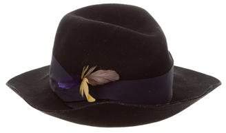 Eugenia Kim Genie by Feather-Trimmed Wool Fedora