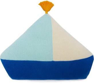Blabla Kids Kids Boat Rib-Knit Cotton Pillow