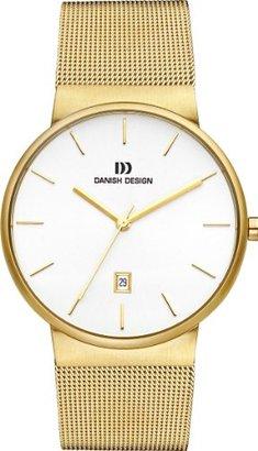 Danish Design (ダニッシュ デザイン) - デンマークデザインiq05q971 Gold Toneステンレススチールホワイトダイヤルメンズ腕時計