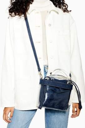 Topshop Clear PU Denim Cross Body Bag