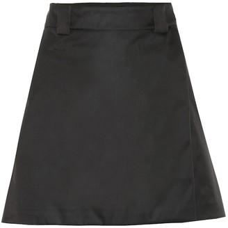 Prada Nylon gabardine miniskirt